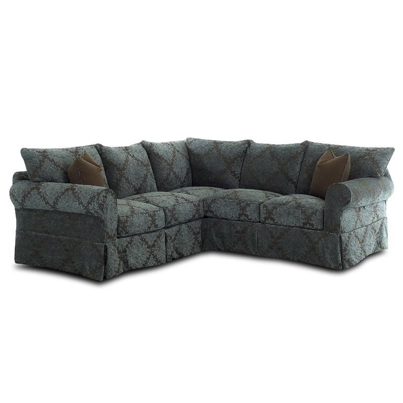 Small Corner Sofa No Arms: Slipcover Sectional With Rolled Arms And Skirt By