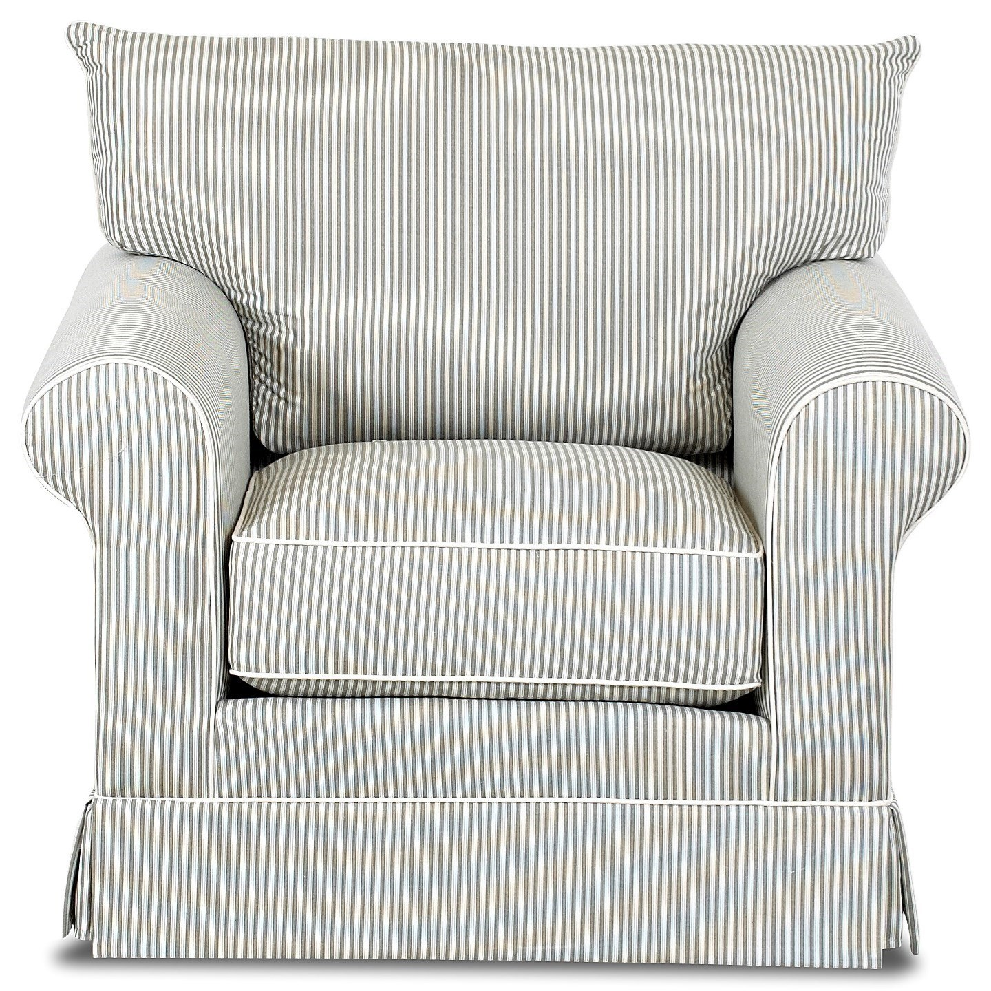 Transitional Chair with Rolled Arms