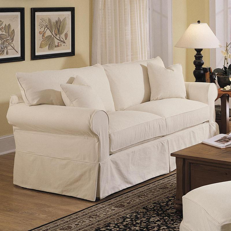 Slipcover Sofa Set: Slipcover Sofa With Skirt By Klaussner