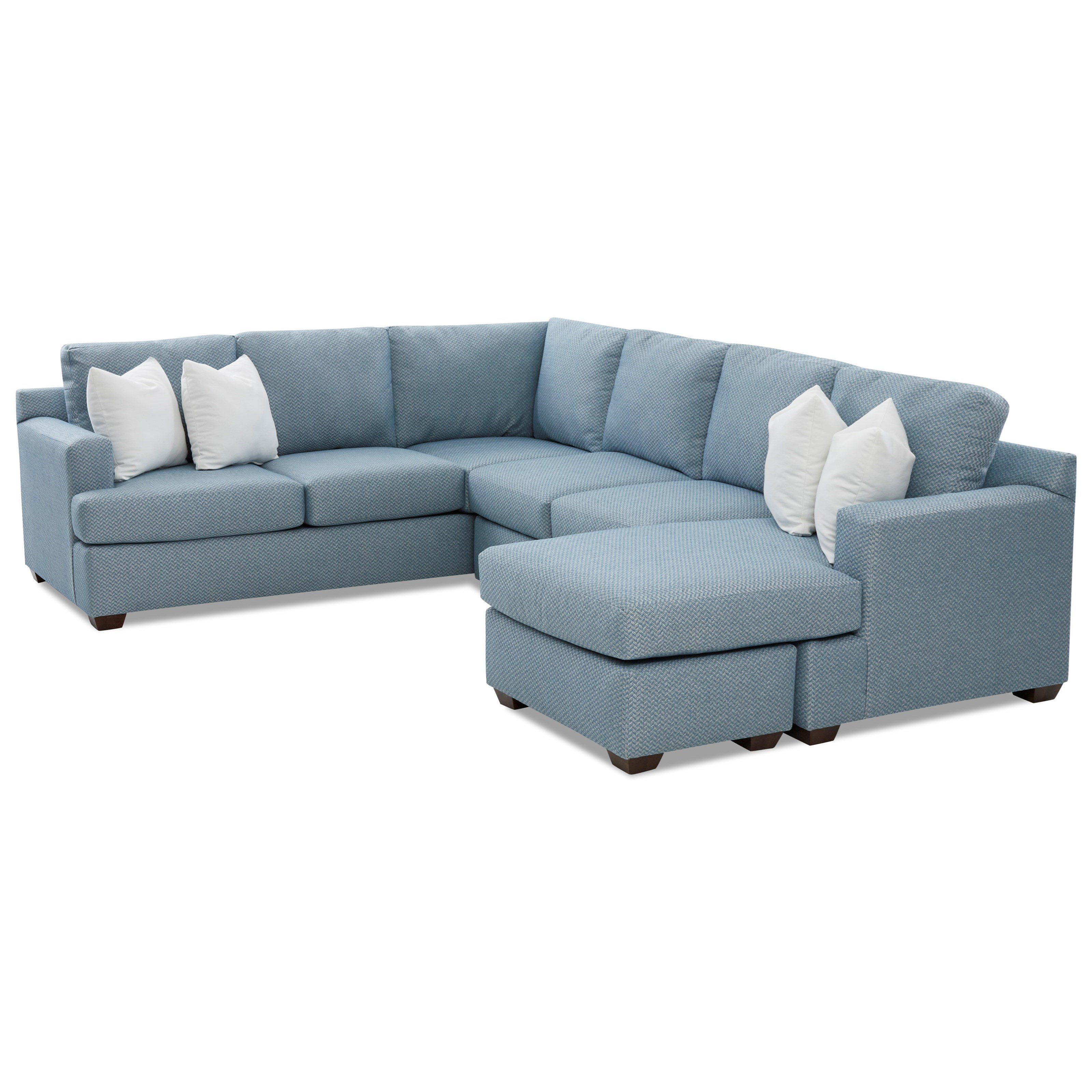 5-Seat Sectional Sofa with RAF Chaise Ottoman