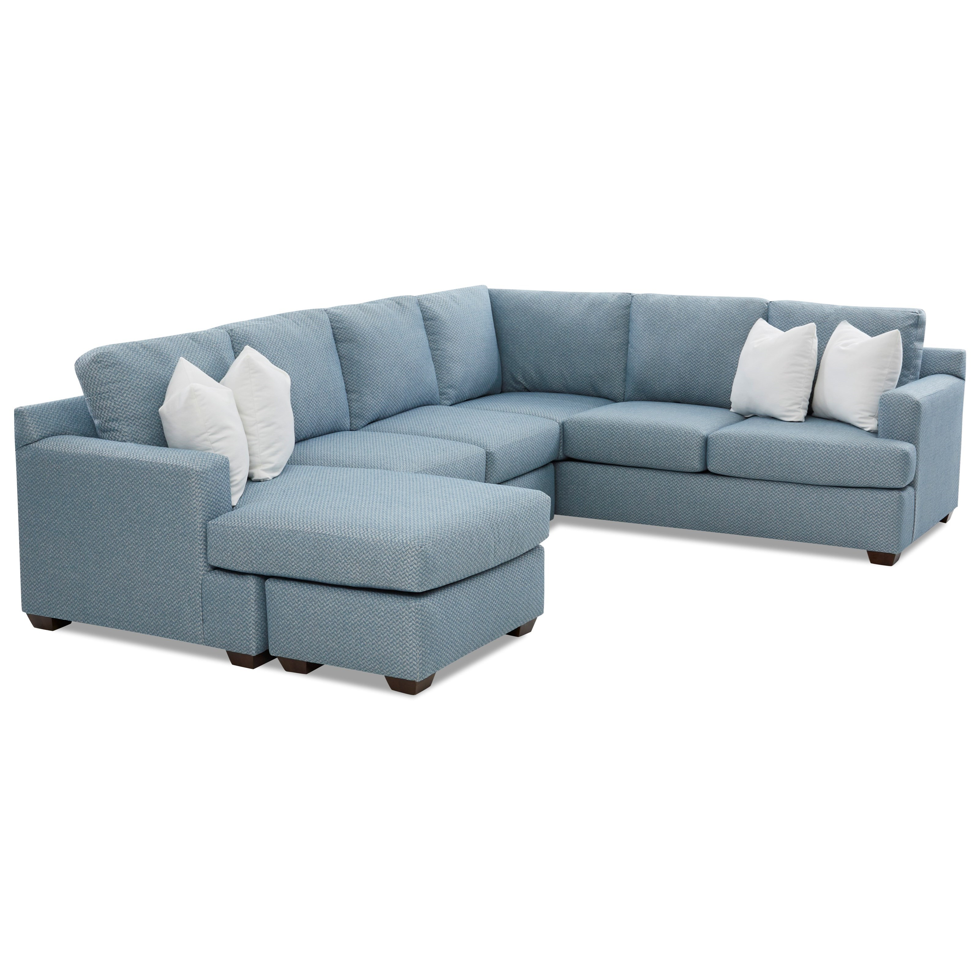 5-Seat Sectional Sofa with LAF Chaise Ottoman