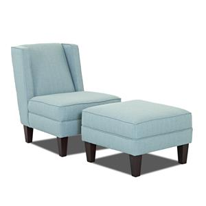 Klaussner Kaitlyn Chair and Ottoman Set