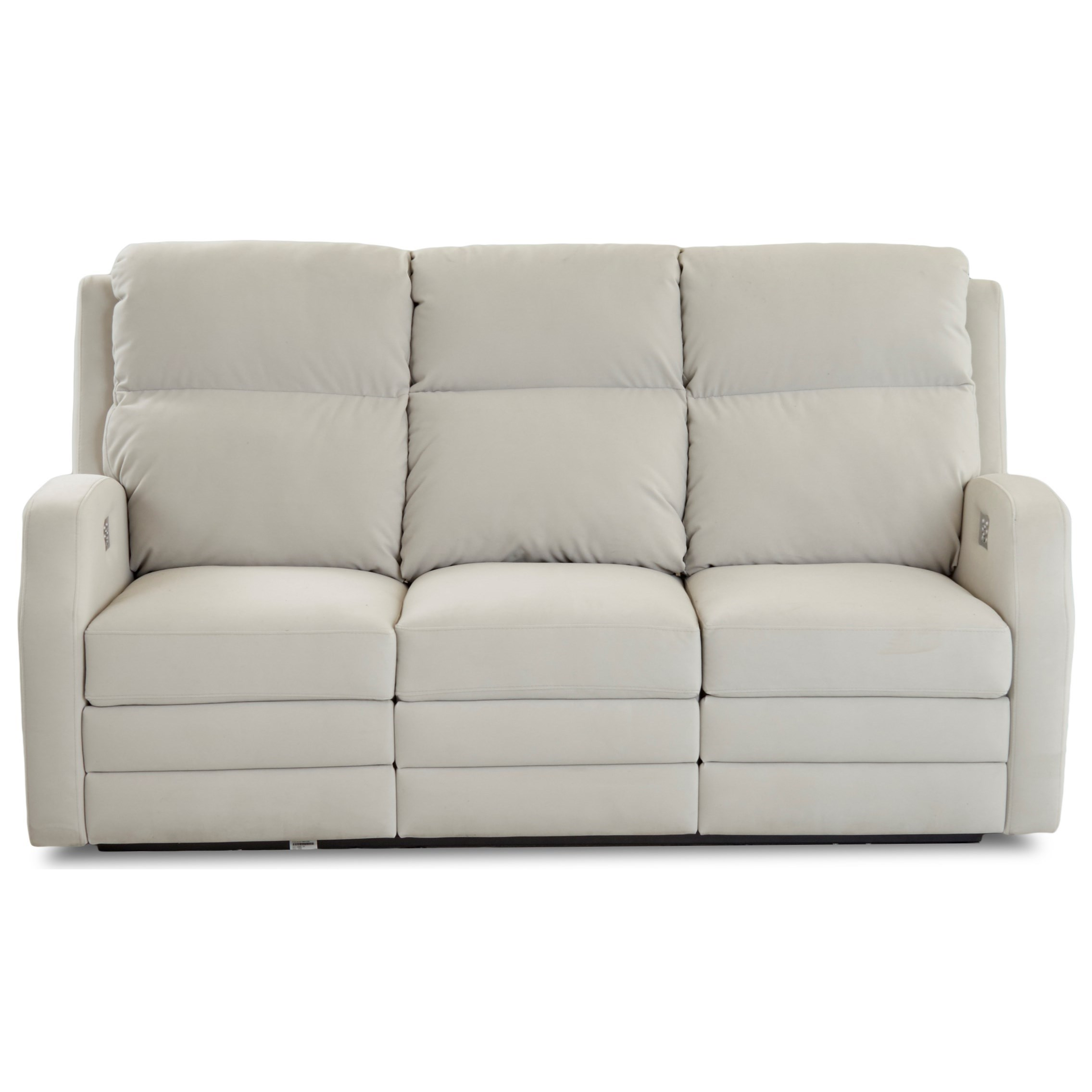 77 Inch Power Reclining Sofa with USB Charging Ports and Power Headrests / Lumbar