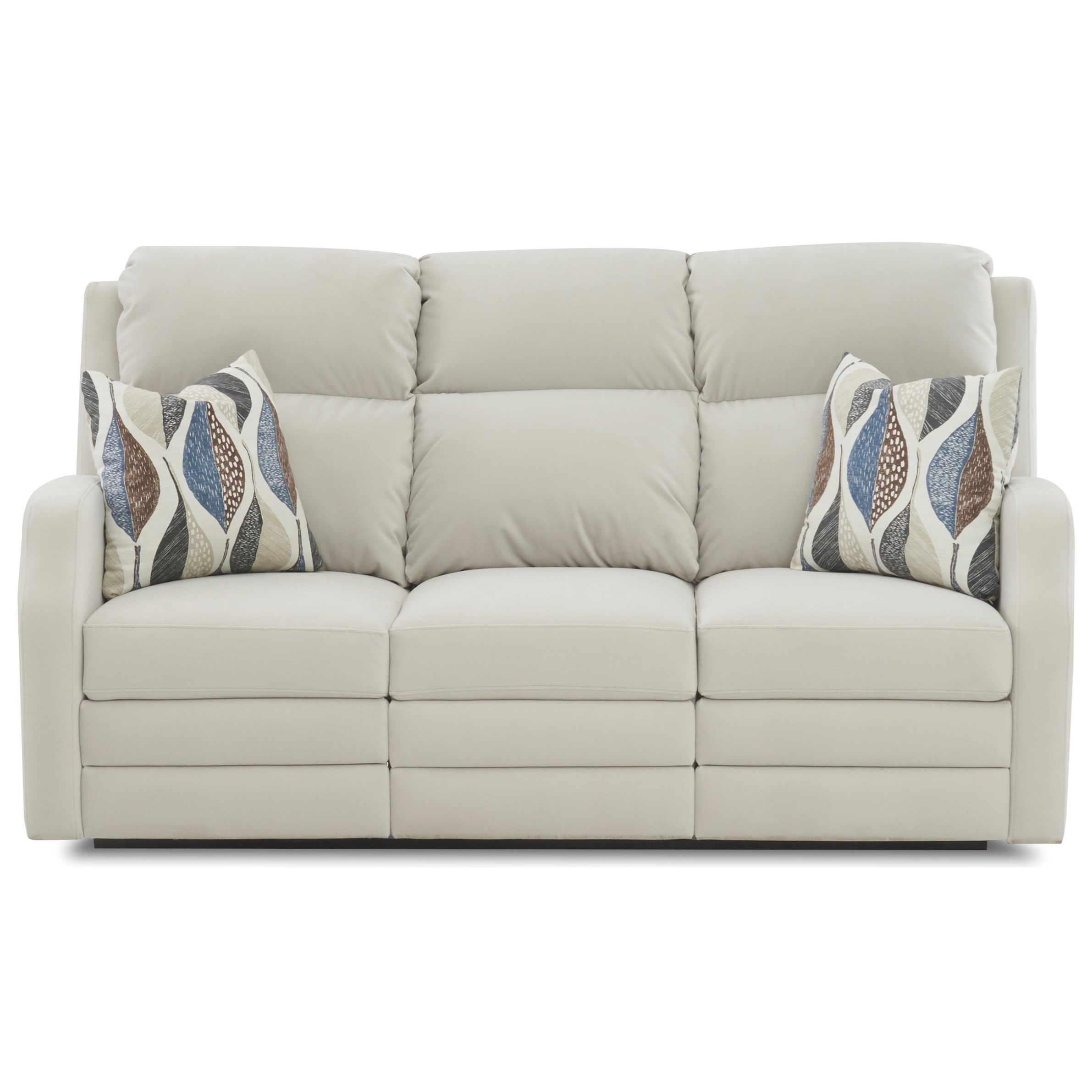 77 Inch Power Reclining Sofa with USB Charging Ports, Power Headrests / Lumbar, Pillows