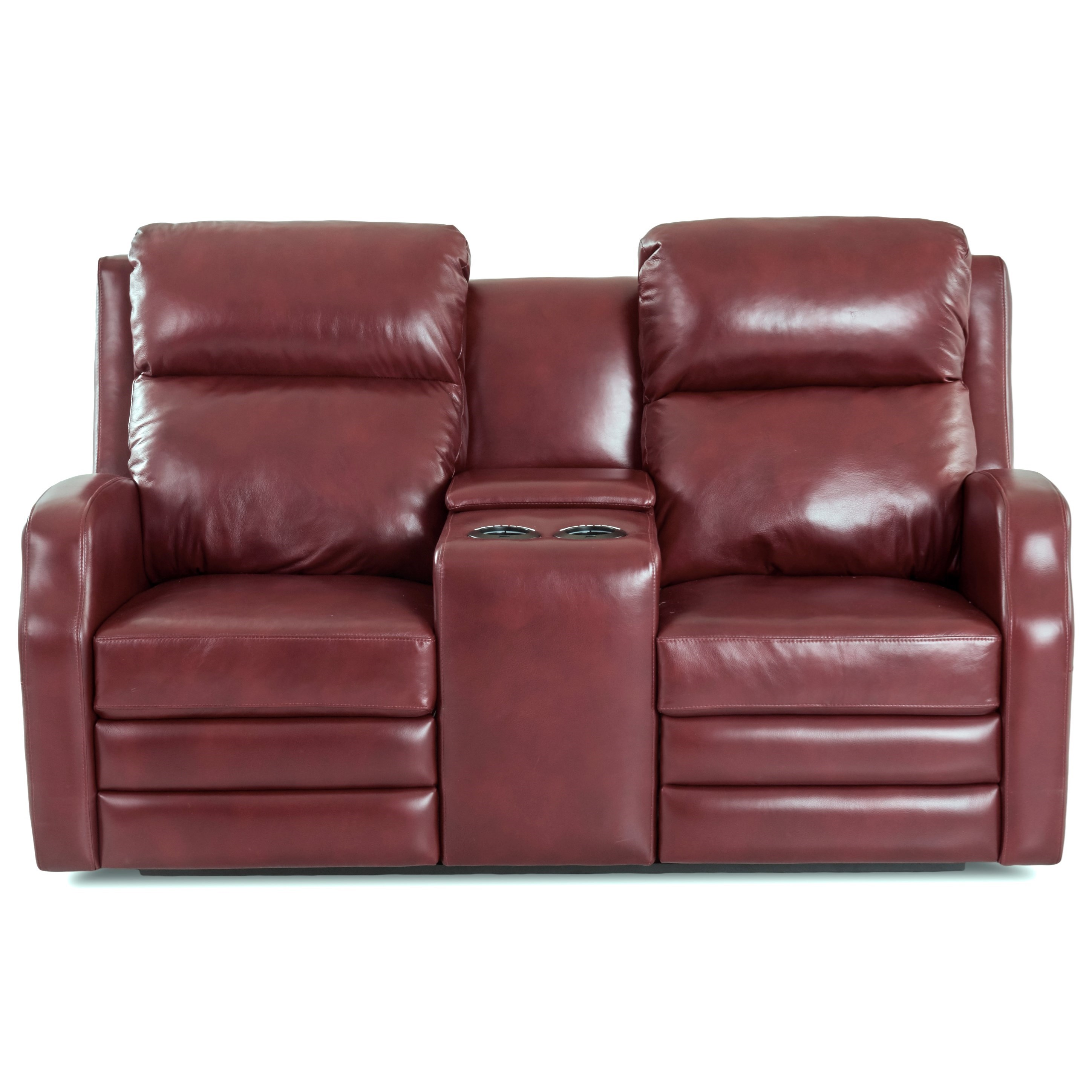 Power Console Reclining Loveseat with USB Charging Ports and Power Headrests / Lumbar