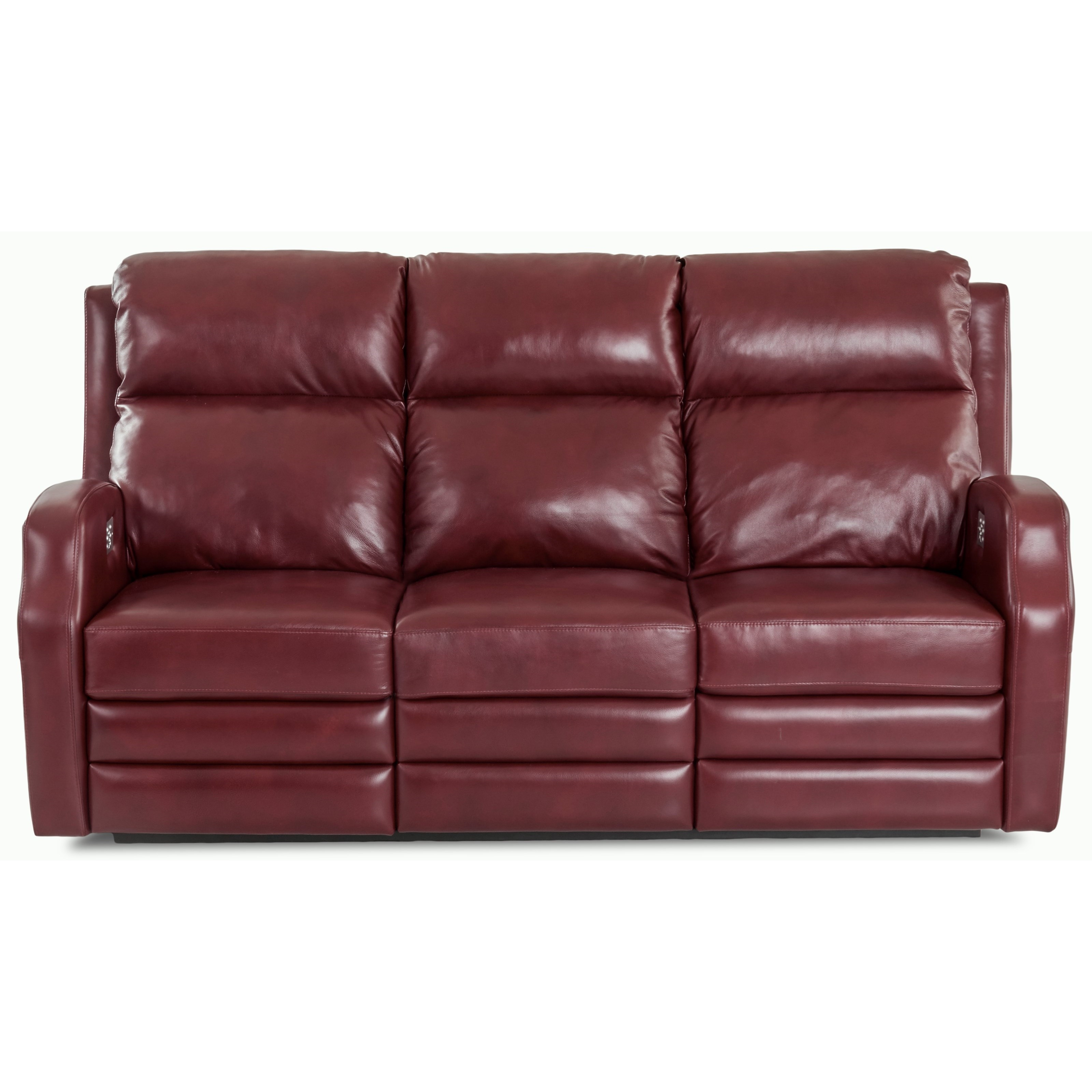 77 Inch Power Reclining Sofa with USB Charging Ports
