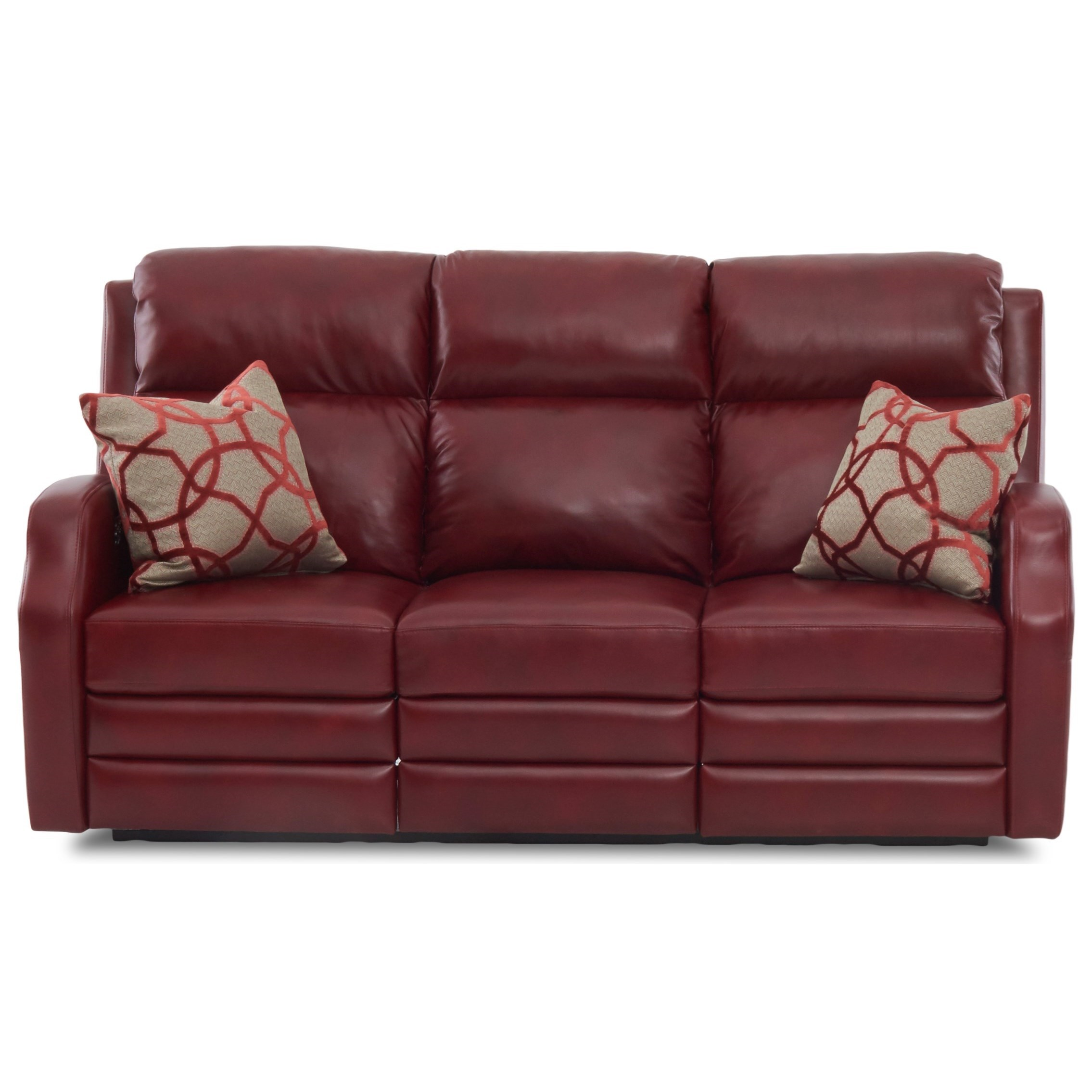 77 Inch Power Reclining Sofa with USB Charging Ports, Power Headrests, Pillows