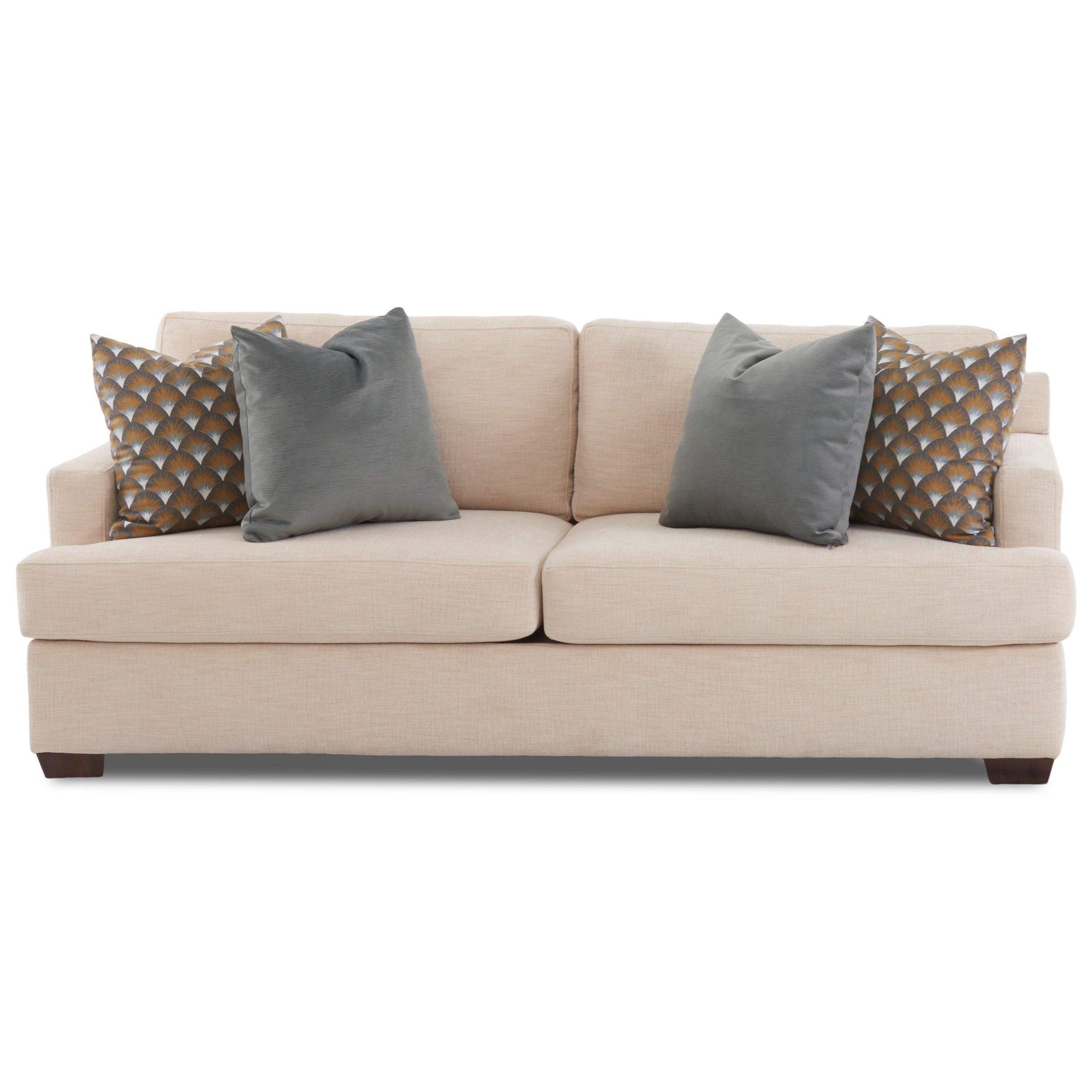 Contemporary 2-Seat Sofa with Innerspring Sleeper Mattress