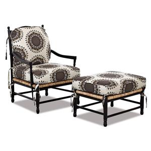 Klaussner Chairs and Accents Verano Occasional Chair and Ottoman Set