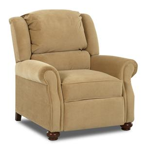 Klaussner High Leg Recliners Julia Recliner