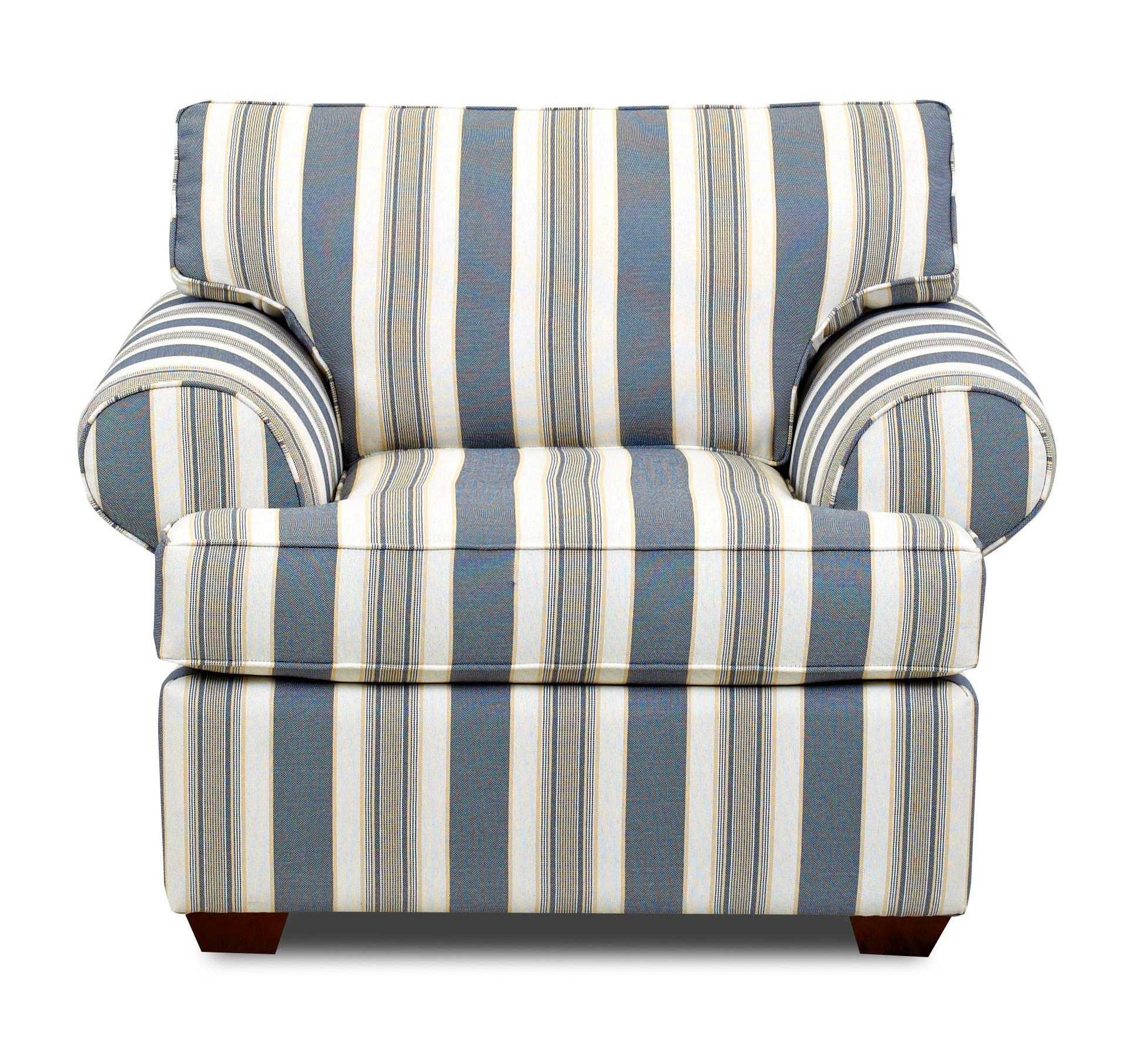 Upholstered Chair with Rolled Arms