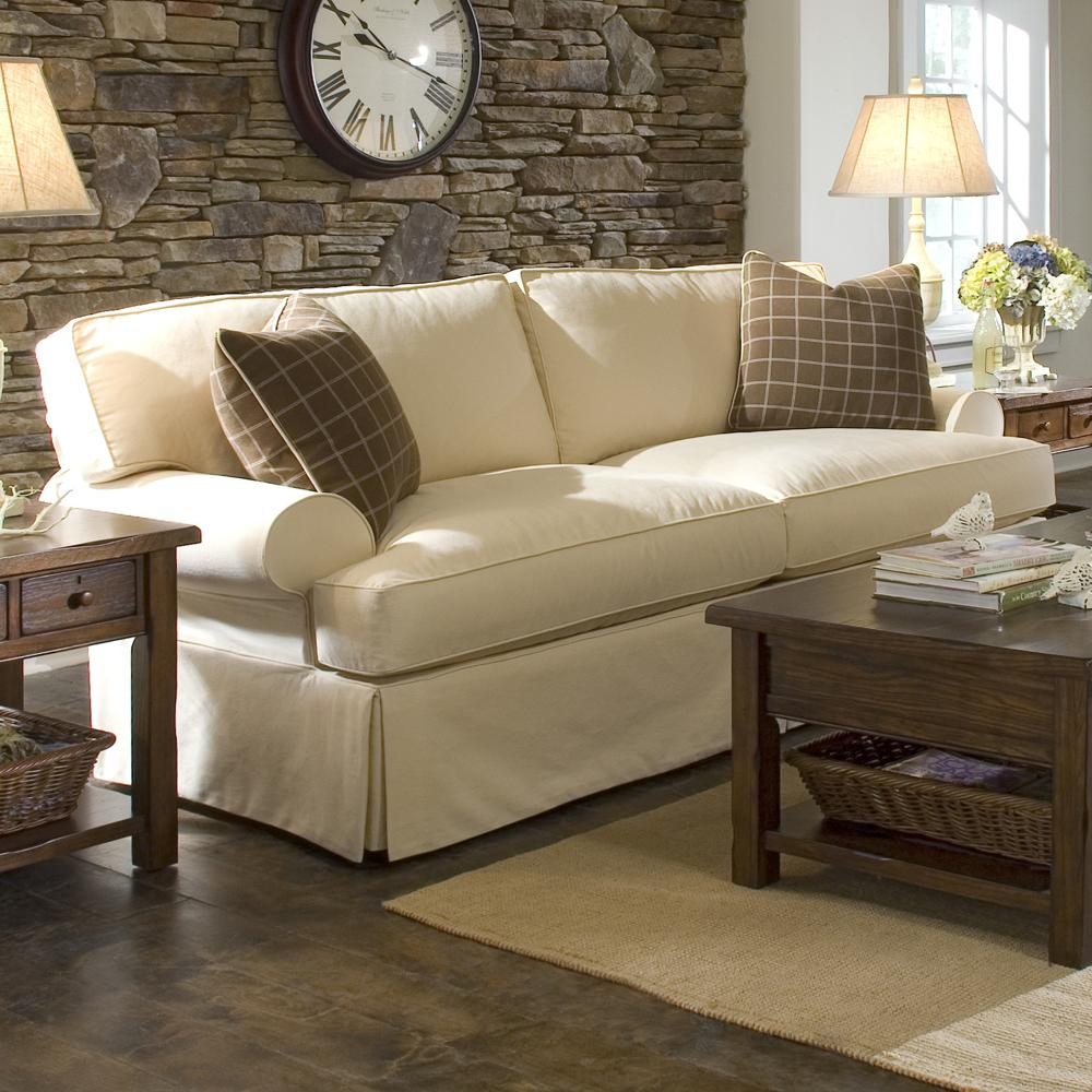 Sofa With Slipcover And Blend Down Cushions By Klaussner