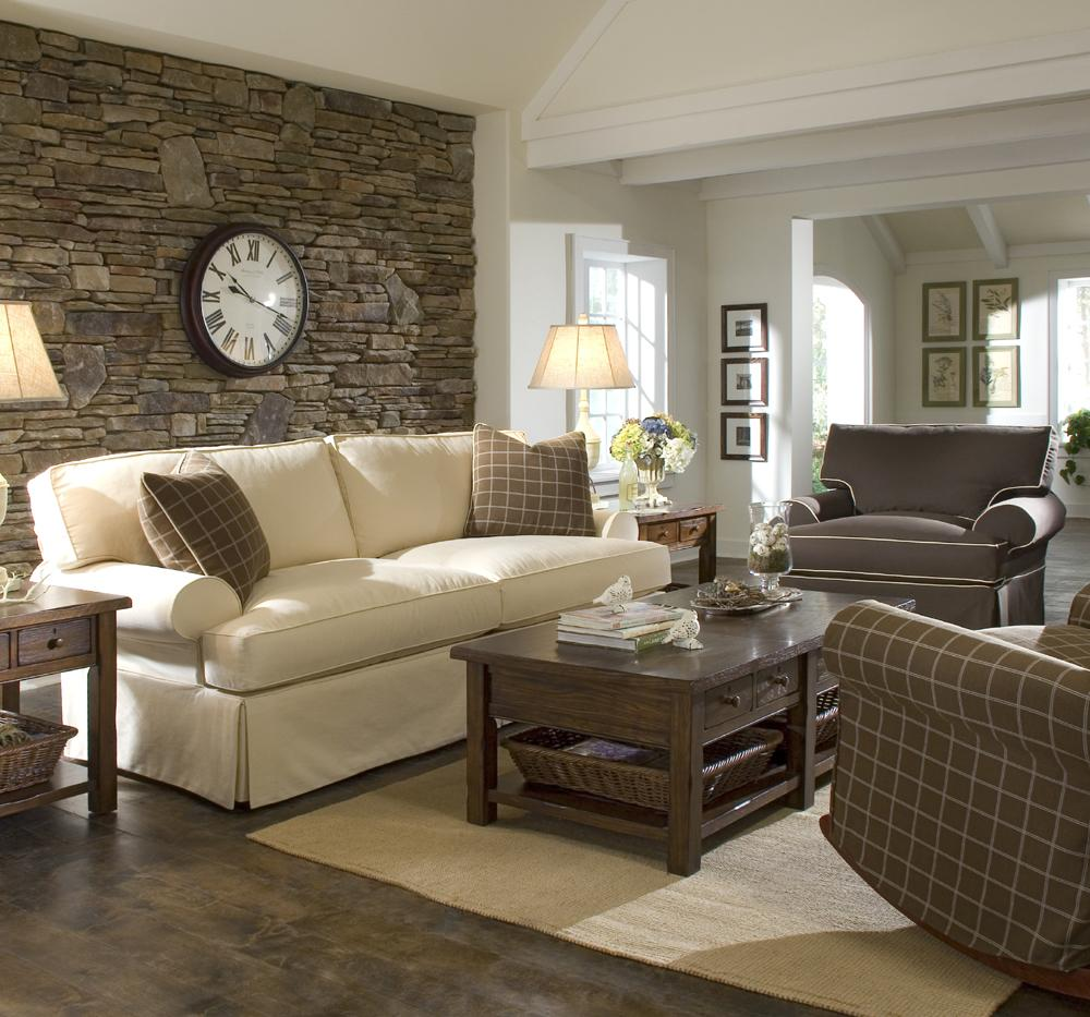 Sofa With Slipcover And Blend Down Cushions