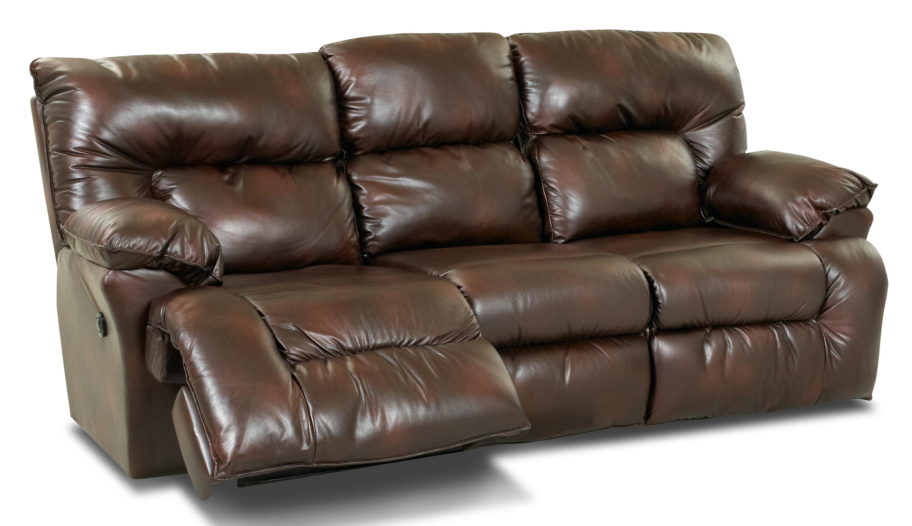 Power Reclining Sofa with Drop Down Table and Cupholders by