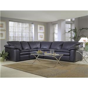 Klaussner Legacy Reclining Sleeper Sectional Sofa