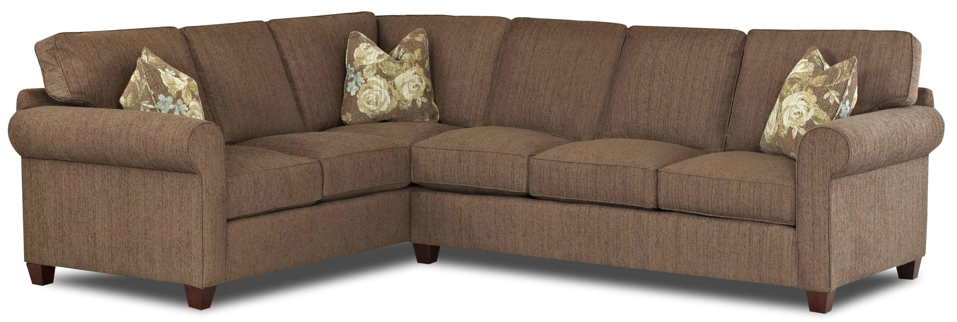 2 piece sectional sofa with welt