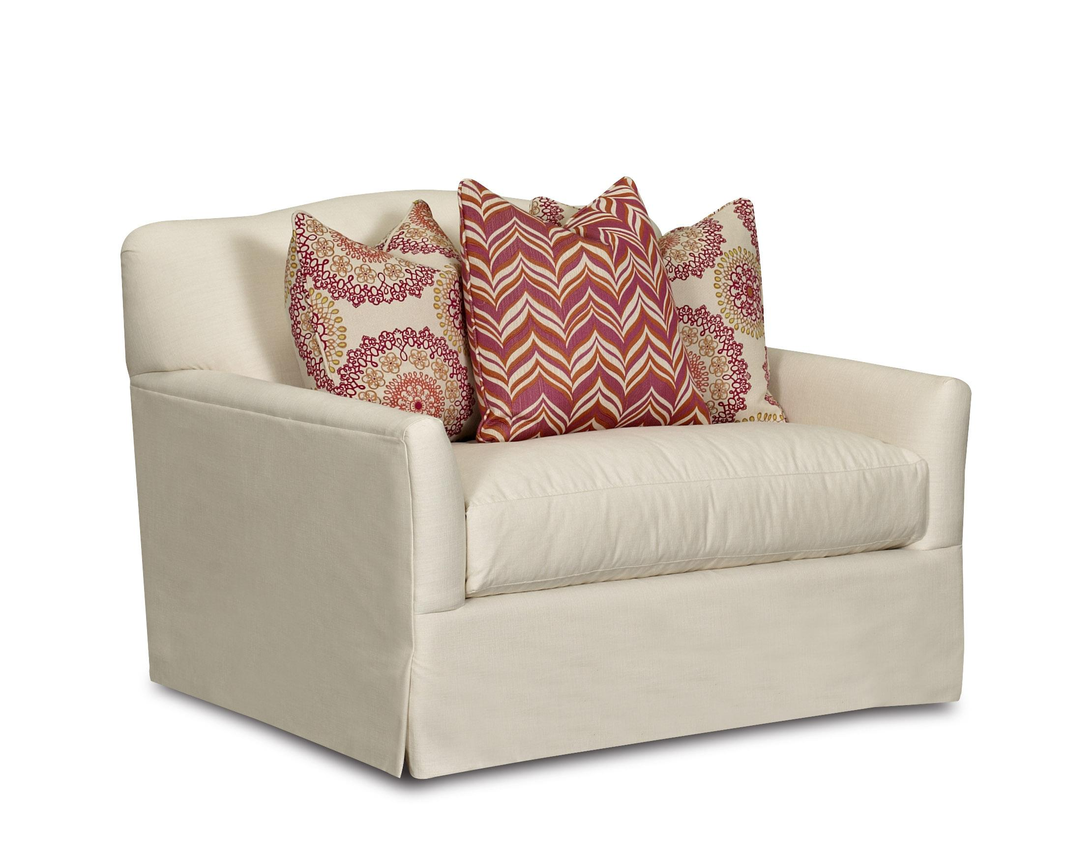 transitional chair with bench seat cushion camel back and