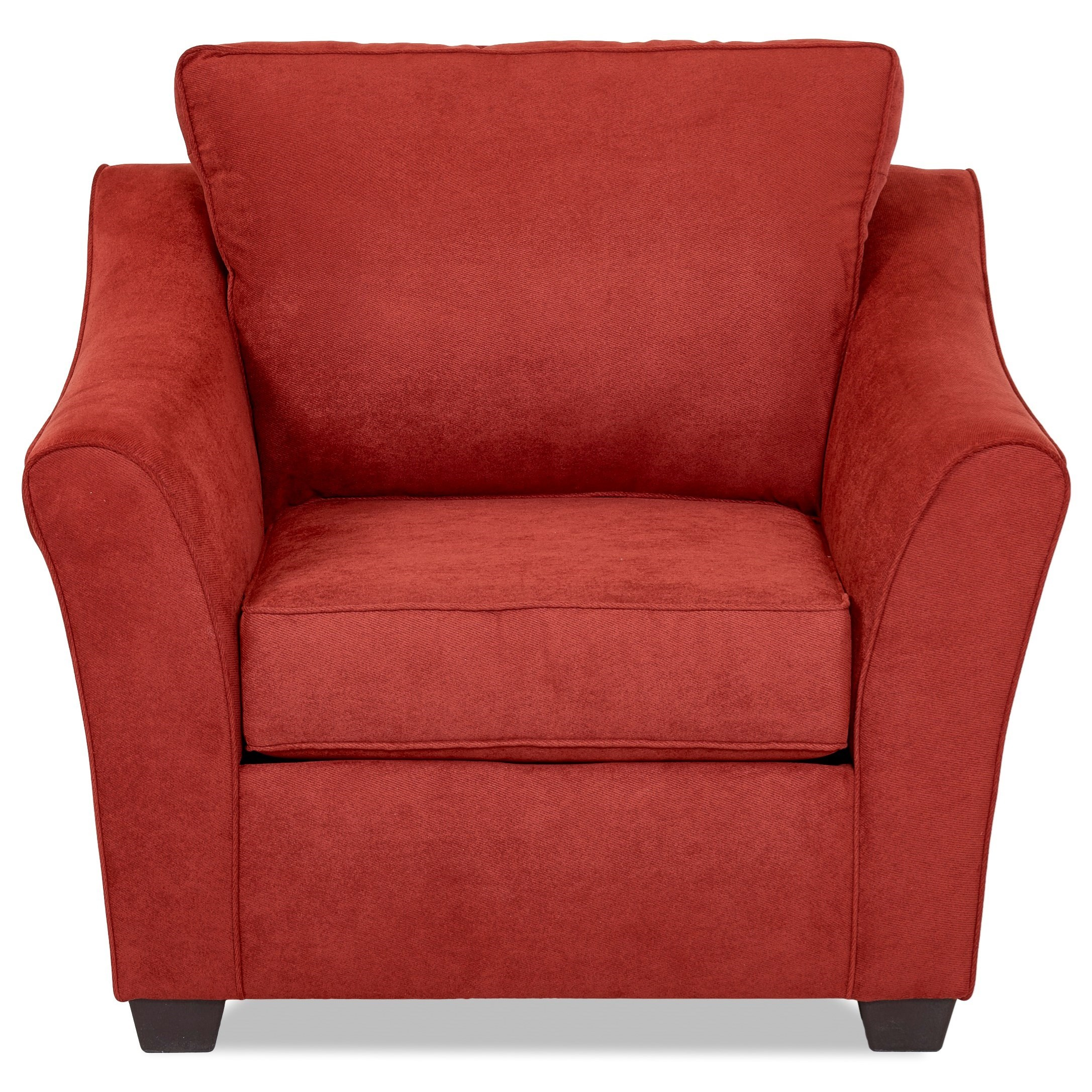 Contemporary Chair with Flared Arms