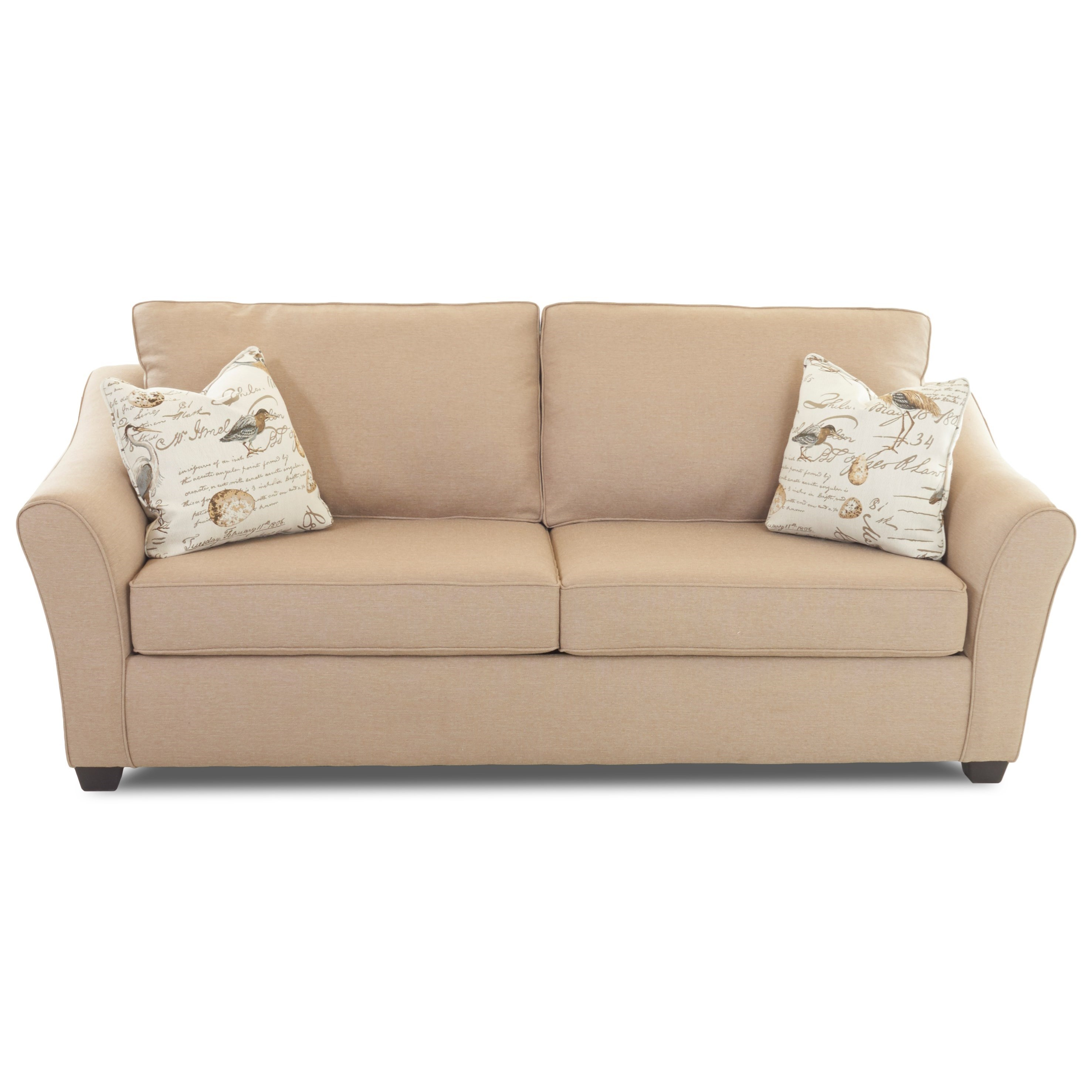 Contemporary Queen Dreamquest Sleeper Sofa with Flared Arms