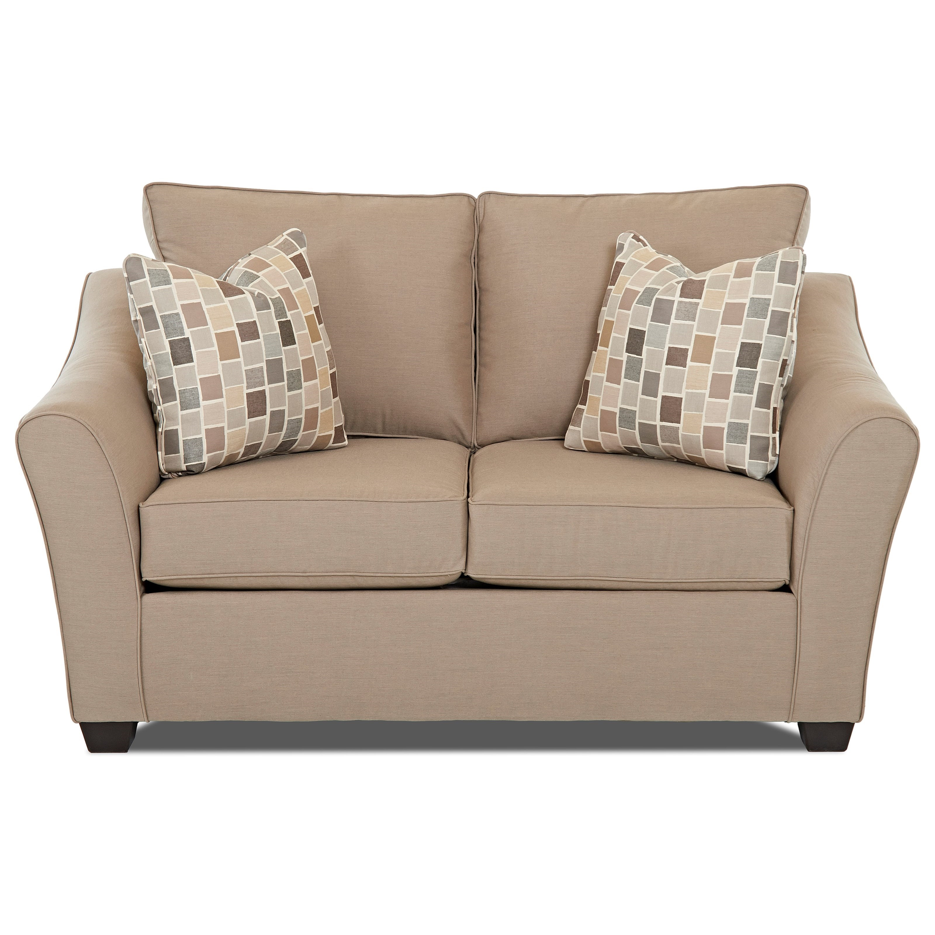 Contemporary Loveseat with Flared Arms