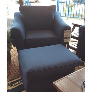 Klaussner Linville Chair and Ottoman