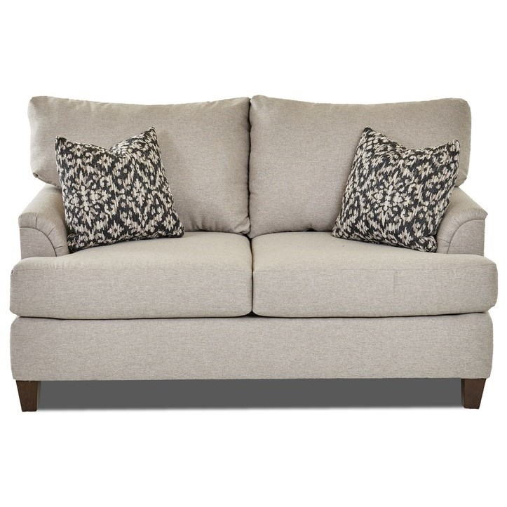Transitional Loveseat with Custom Fabric Options