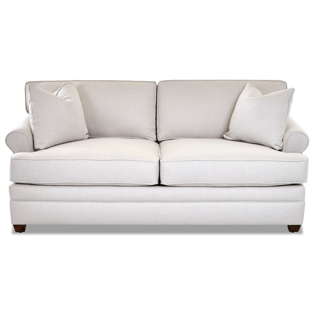 Casual Apartment Sofa with Rolled Arms