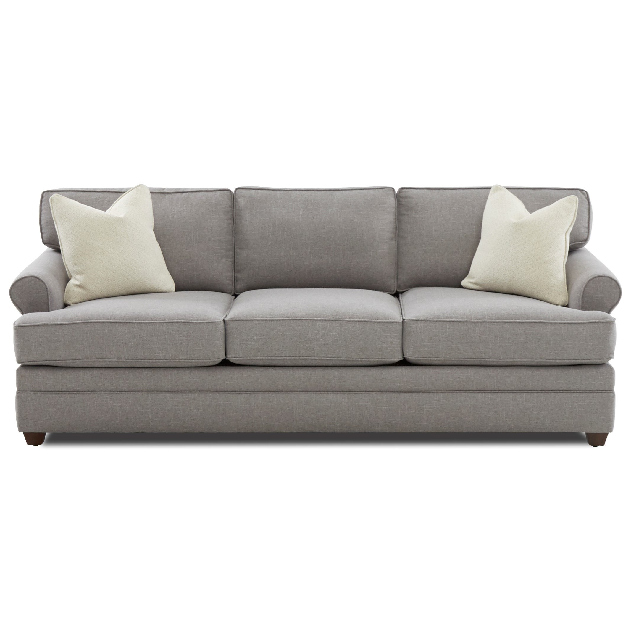 Casual Rolled Arm Sofa Sleeper with Dreamquest Mattress