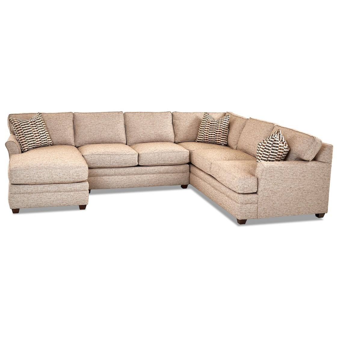 Transitional 3-Piece Sectional Sofa with LAF Chaise