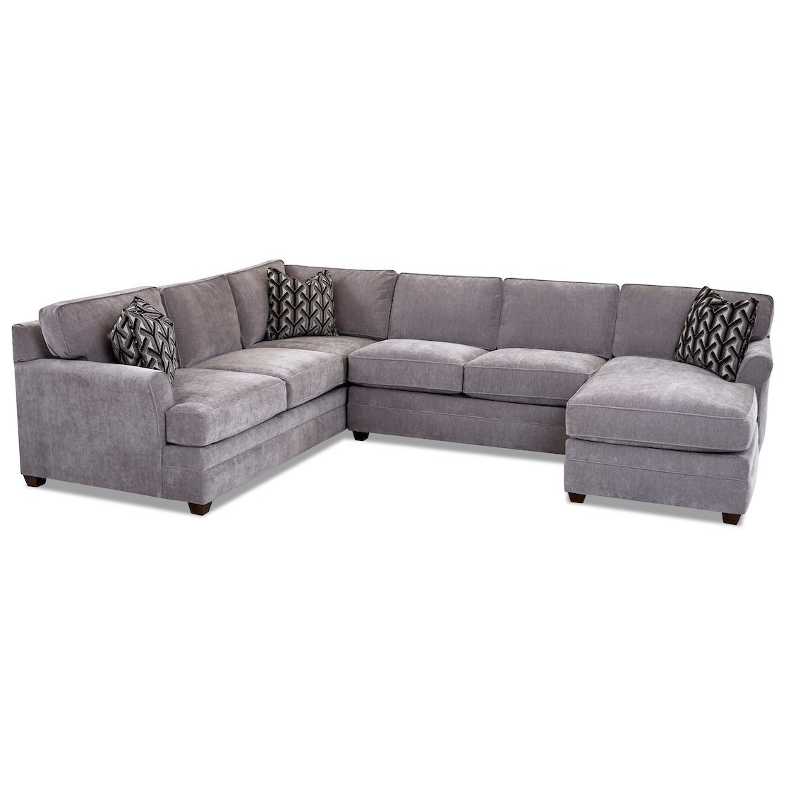 Transitional 3-Piece Sectional Sofa with RAF Chaise