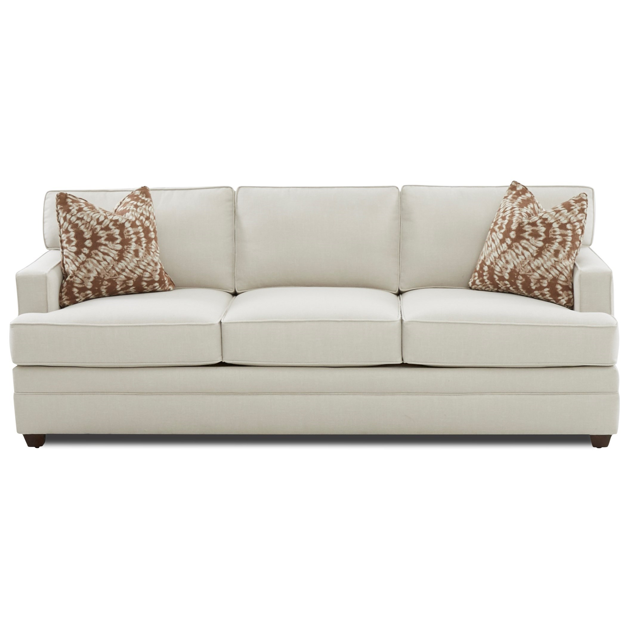 Contemporary Track Arm Sofa Sleeper with Innerspring Mattress