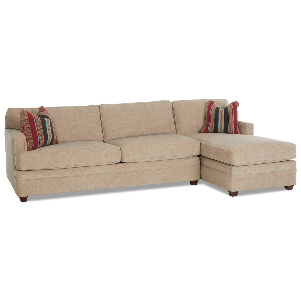 2-Piece Sectional Sofa with LAF Innerspring Sleeper