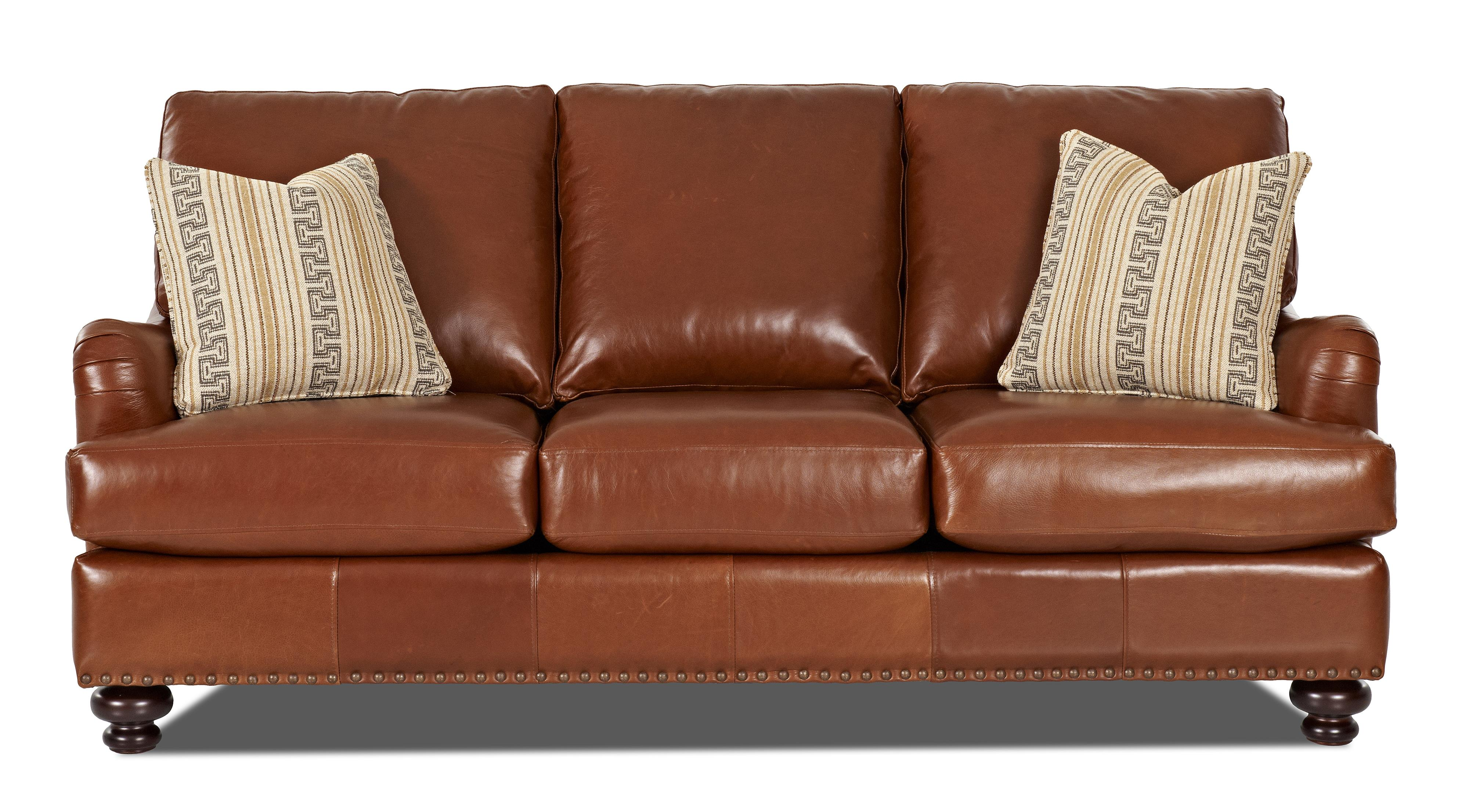 Leather Match Stationary Sofa By Klaussner Wolf And Gardiner Wolf Furniture