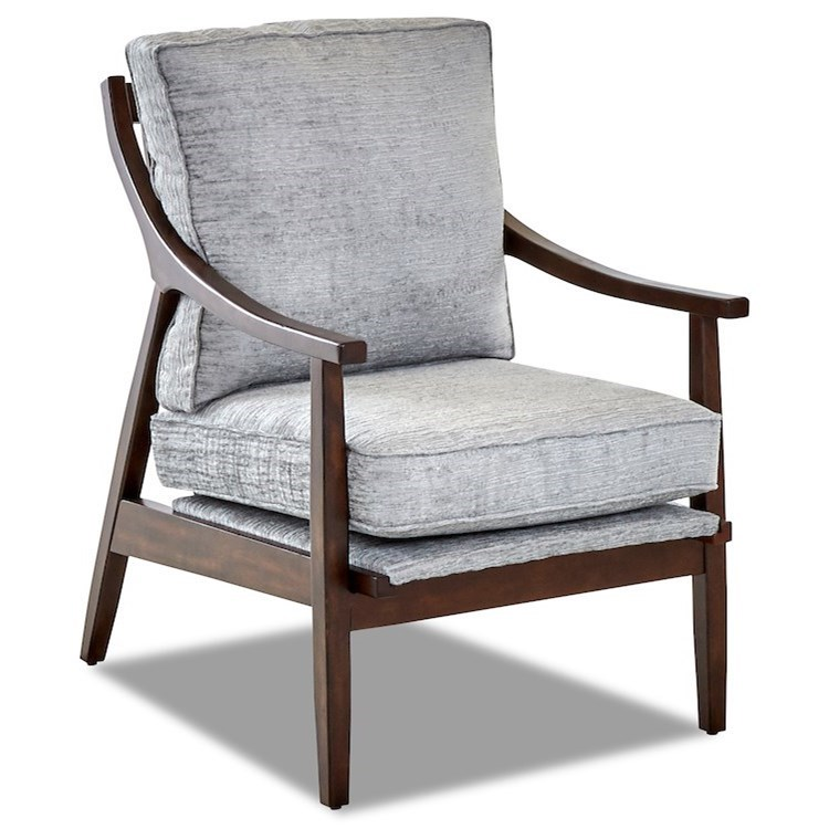 Contemporary Occasional Chair with Loose Cushions