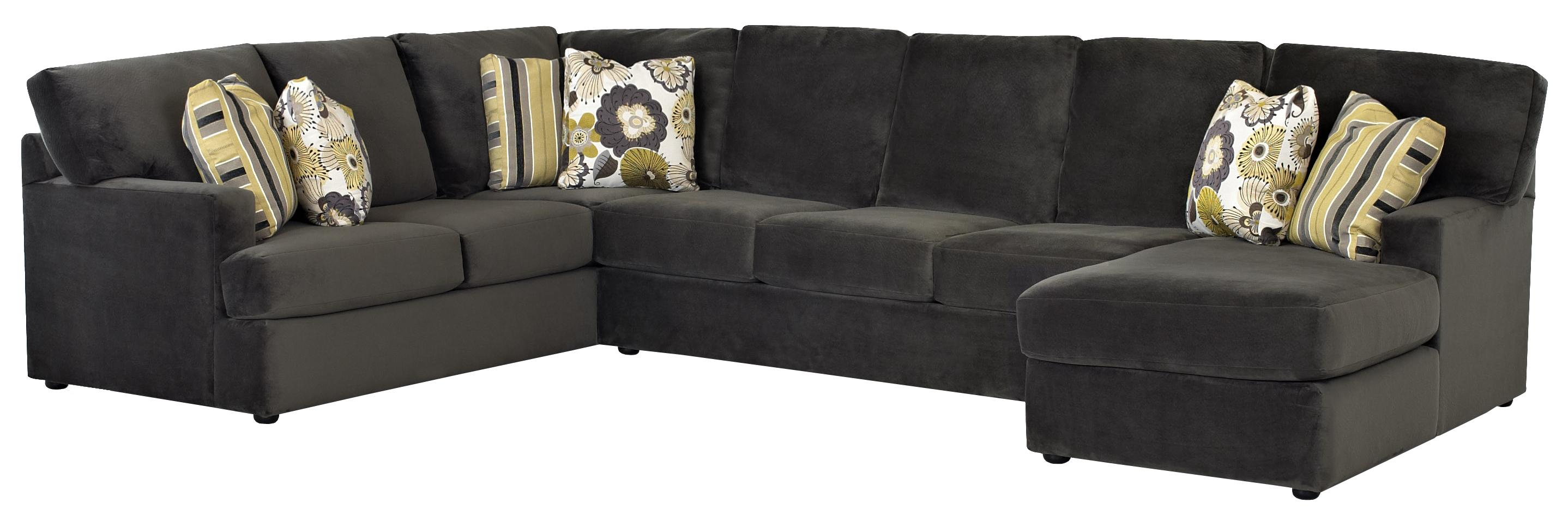 Sectional sofa with right side chaise by klaussner wolf for Alexander sectional sofa chaise