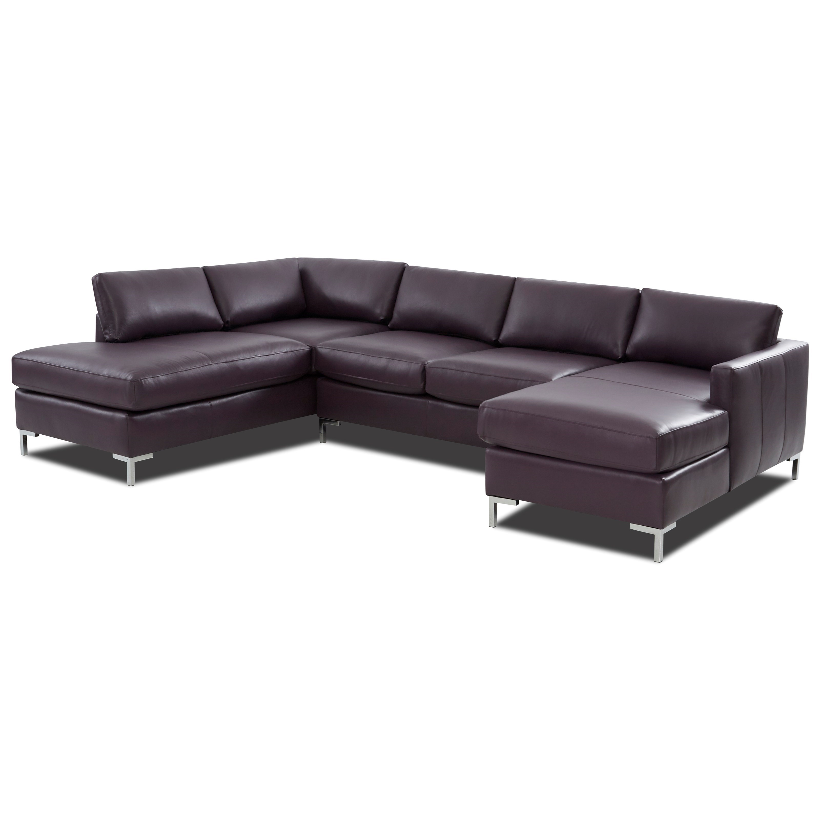 Contemporary 4-Seat U-Shape Sectional Sofa with LAF Sofa Chaise