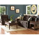 Klaussner McAlister Classic Reclining Rocking Chair - Shown with Reclining Sofa
