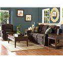 Belfort Basics Macon Classic Reclining Sofa - Shown with Rocking Reclining Chair