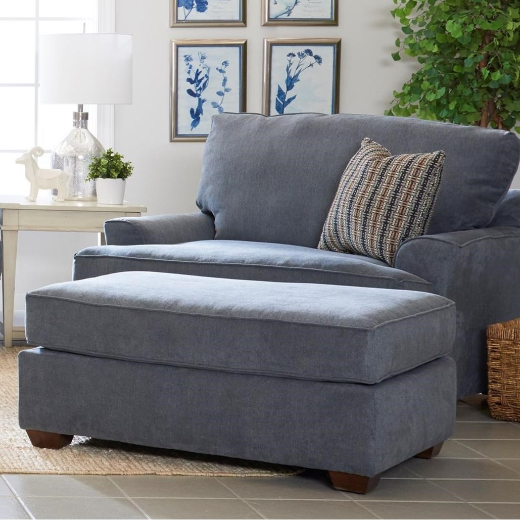 Casual Chair and 1/2 and Ottoman Set