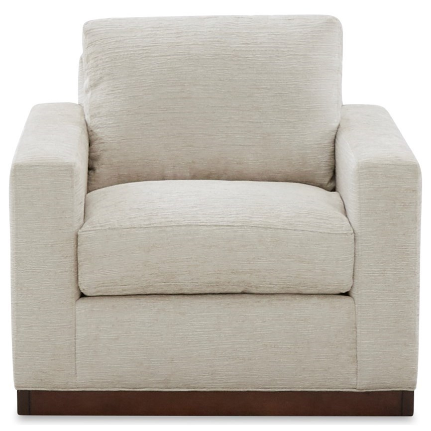 Contemporary Chair with Down Blend Seat Cushion