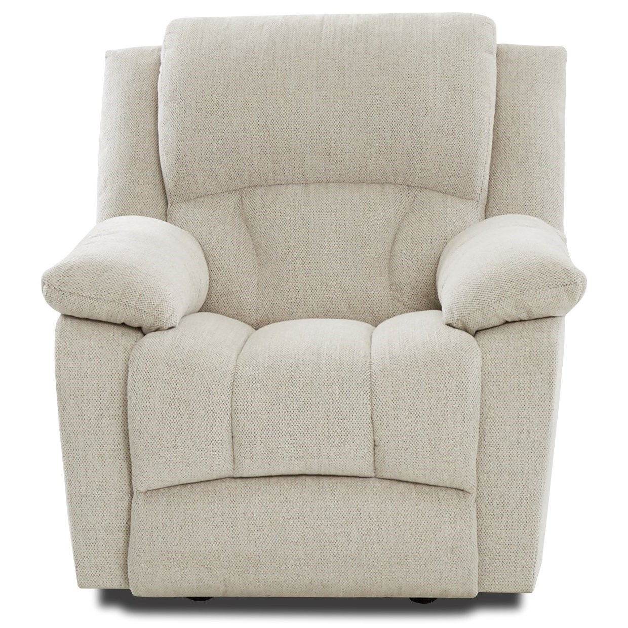 Casual Swivel Rocking Recliner with Extended Footrest