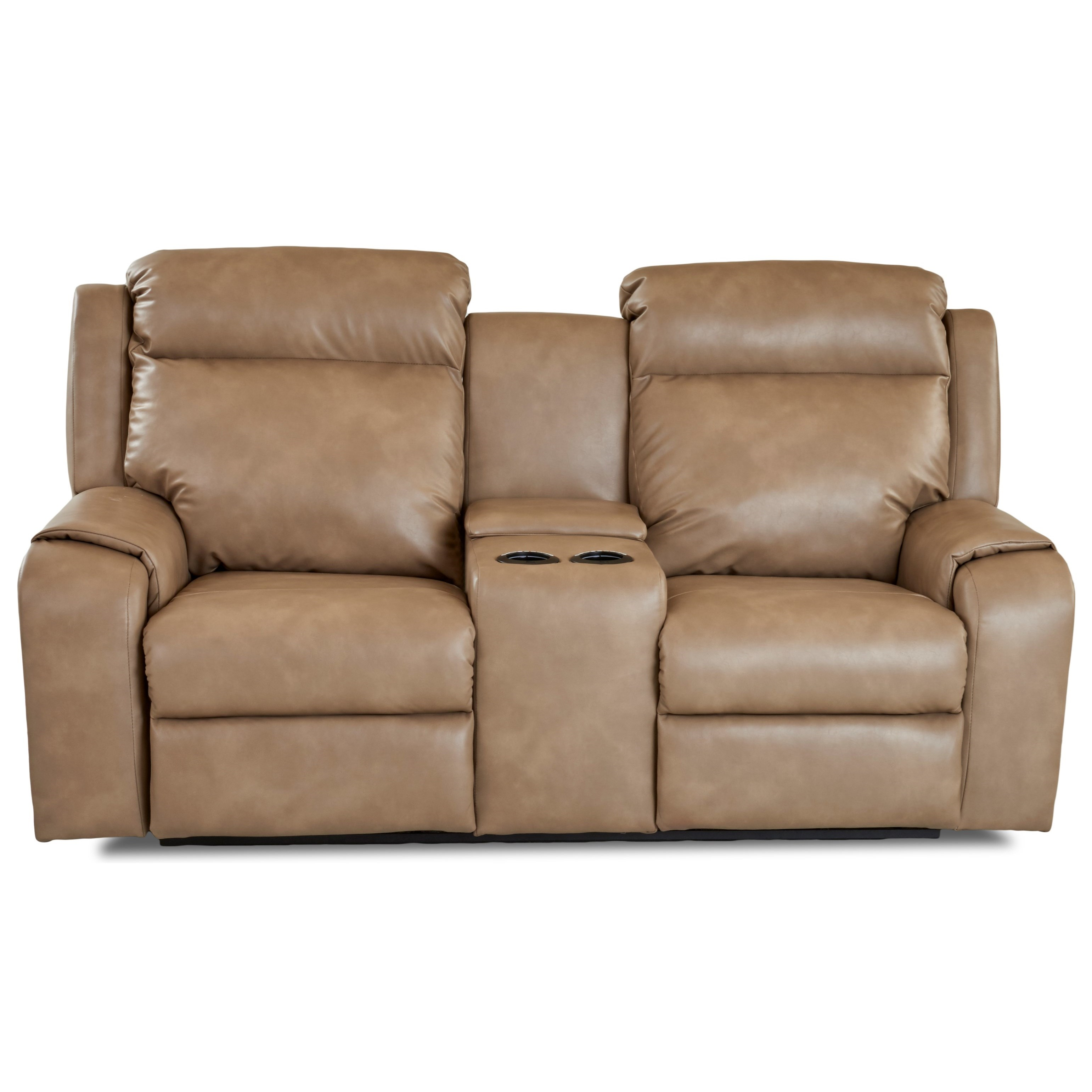 Power Reclining Console Loveseat with Power Headrests / Lumbar and USB Charging Ports