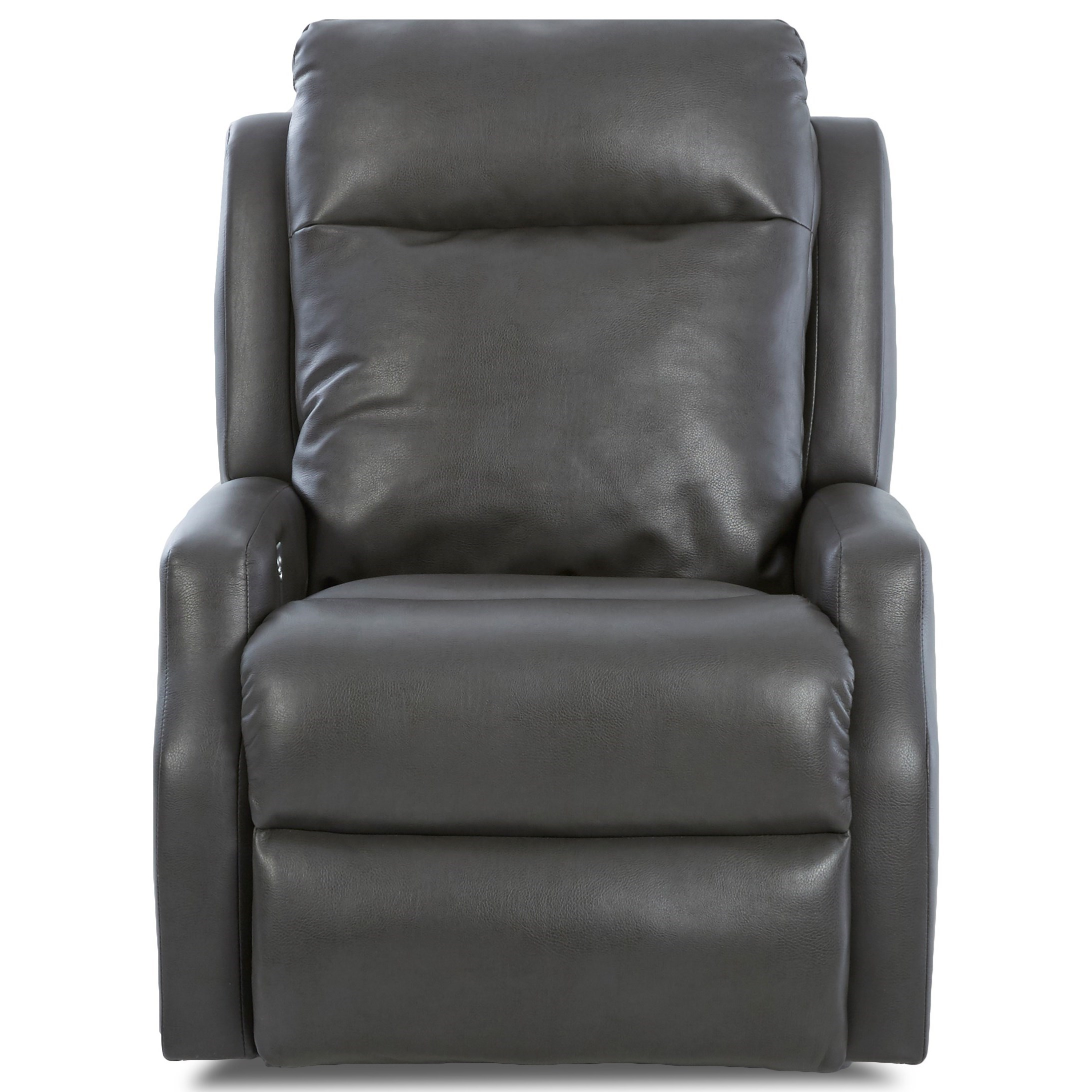 Contemporary Power Reclining Chair with Power Headrest and USB Charging Port