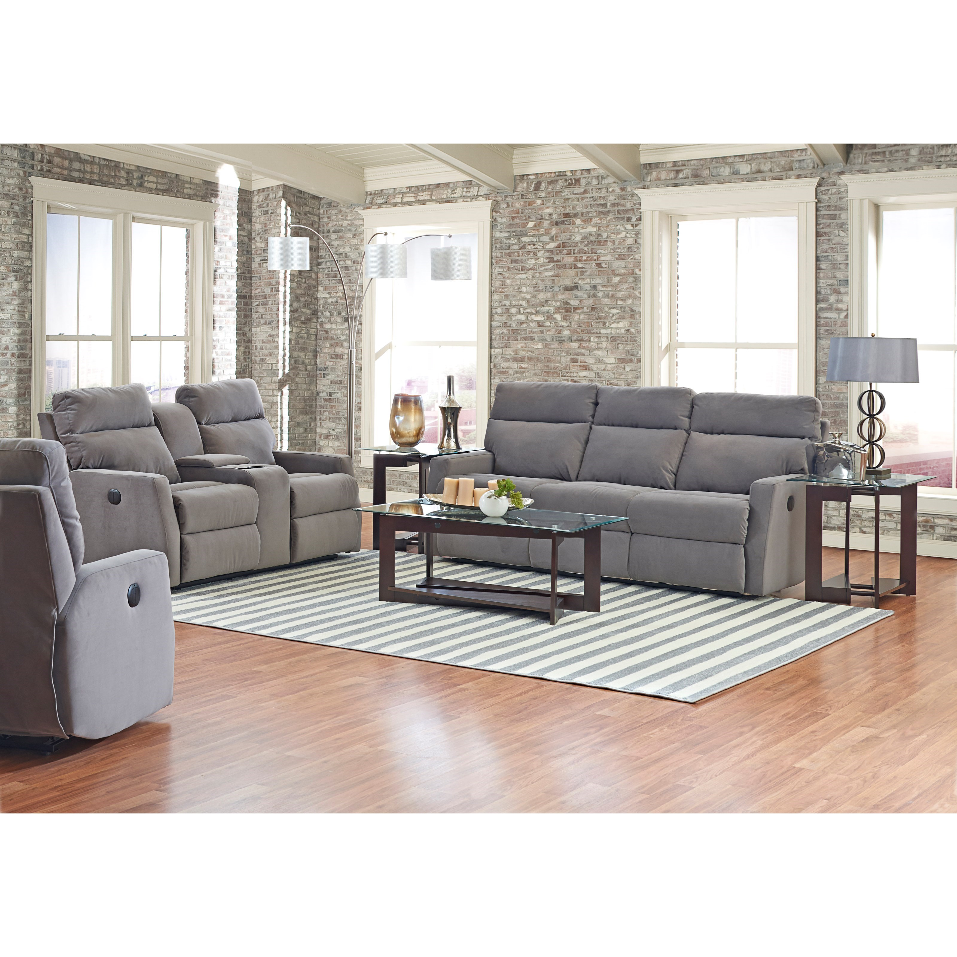 Power Reclining Loveseat With Cupholder Console And