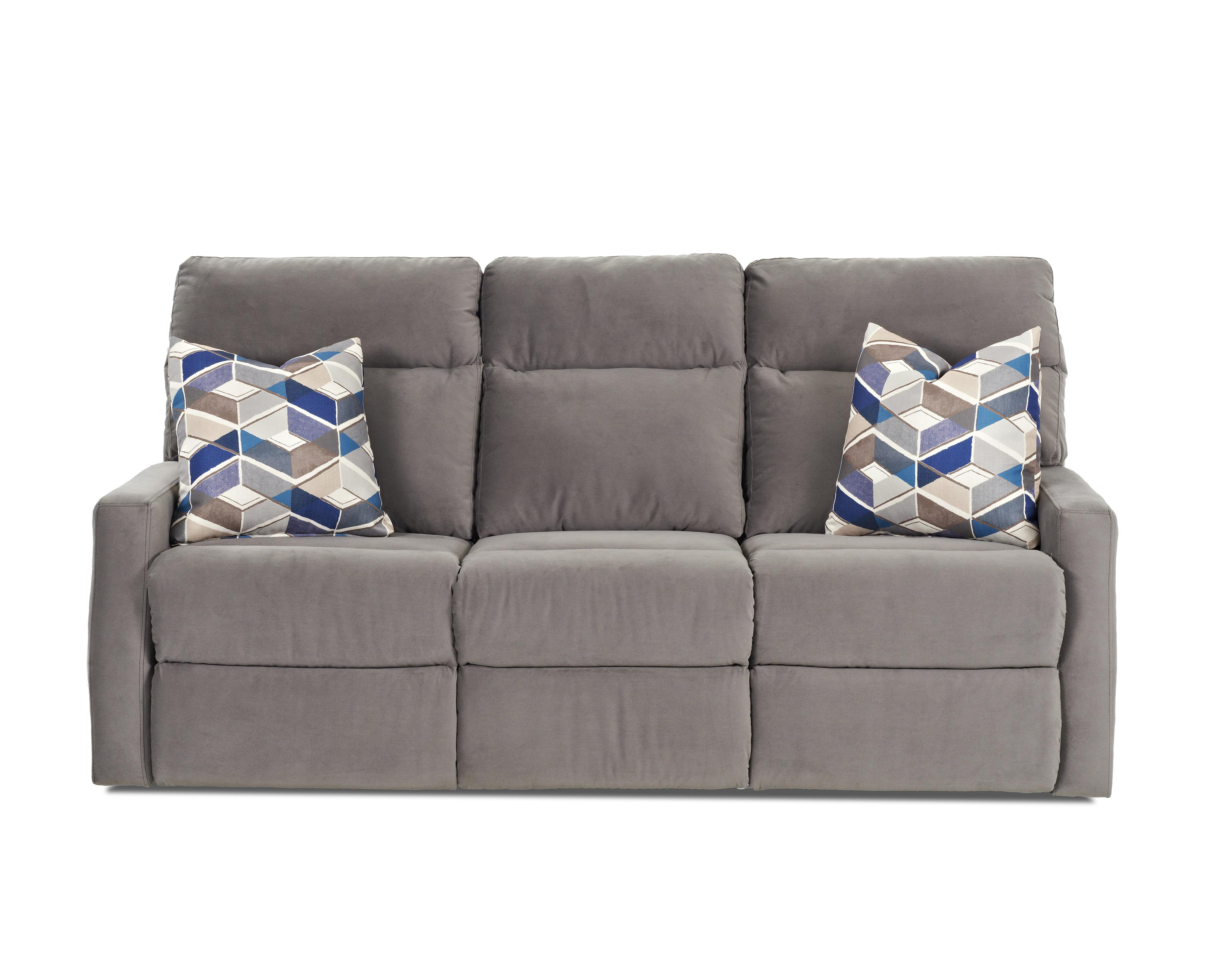 Power Reclining Sofa with Soft Track Arms and Pillows