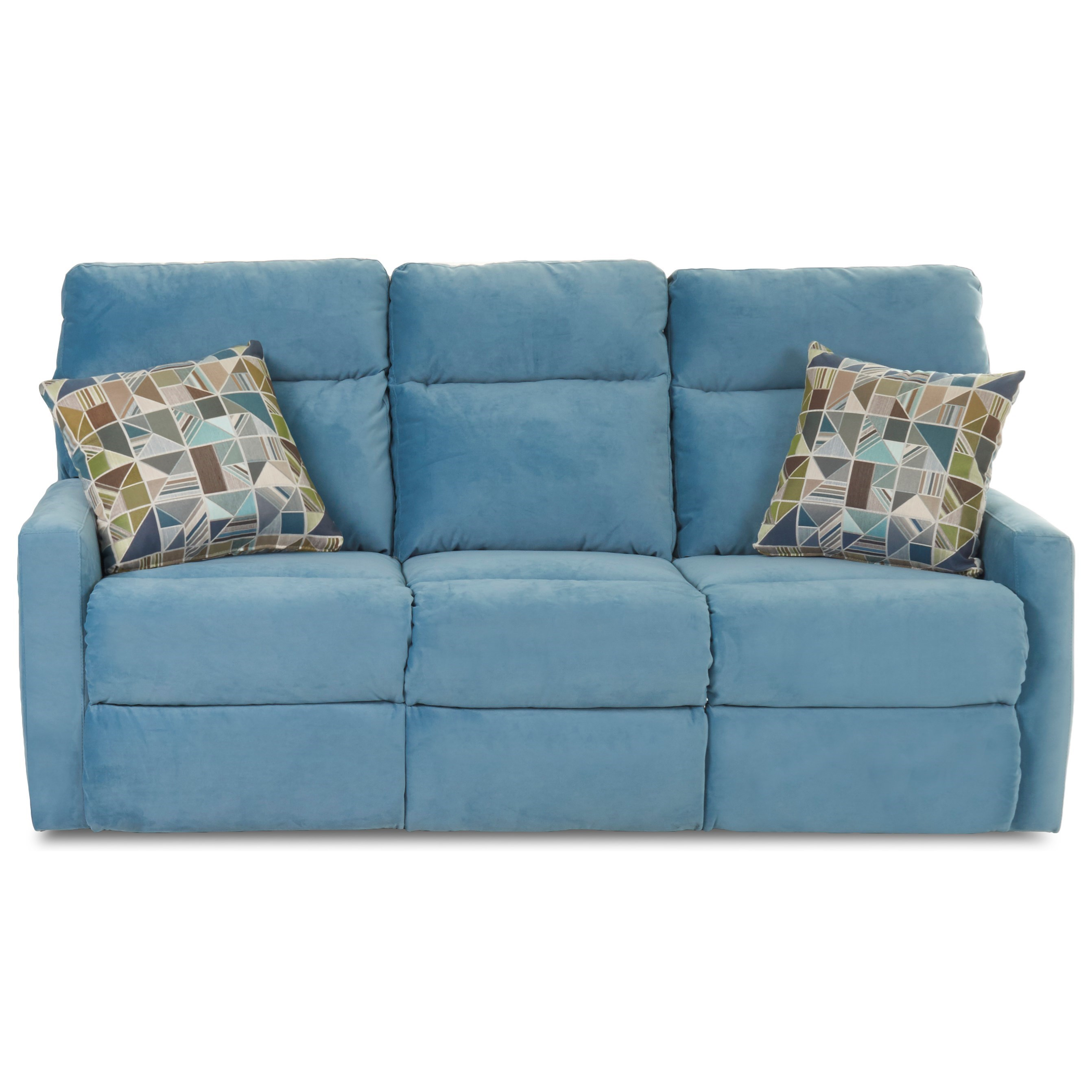 Reclining Sofa with Soft Track Arms and Pillows