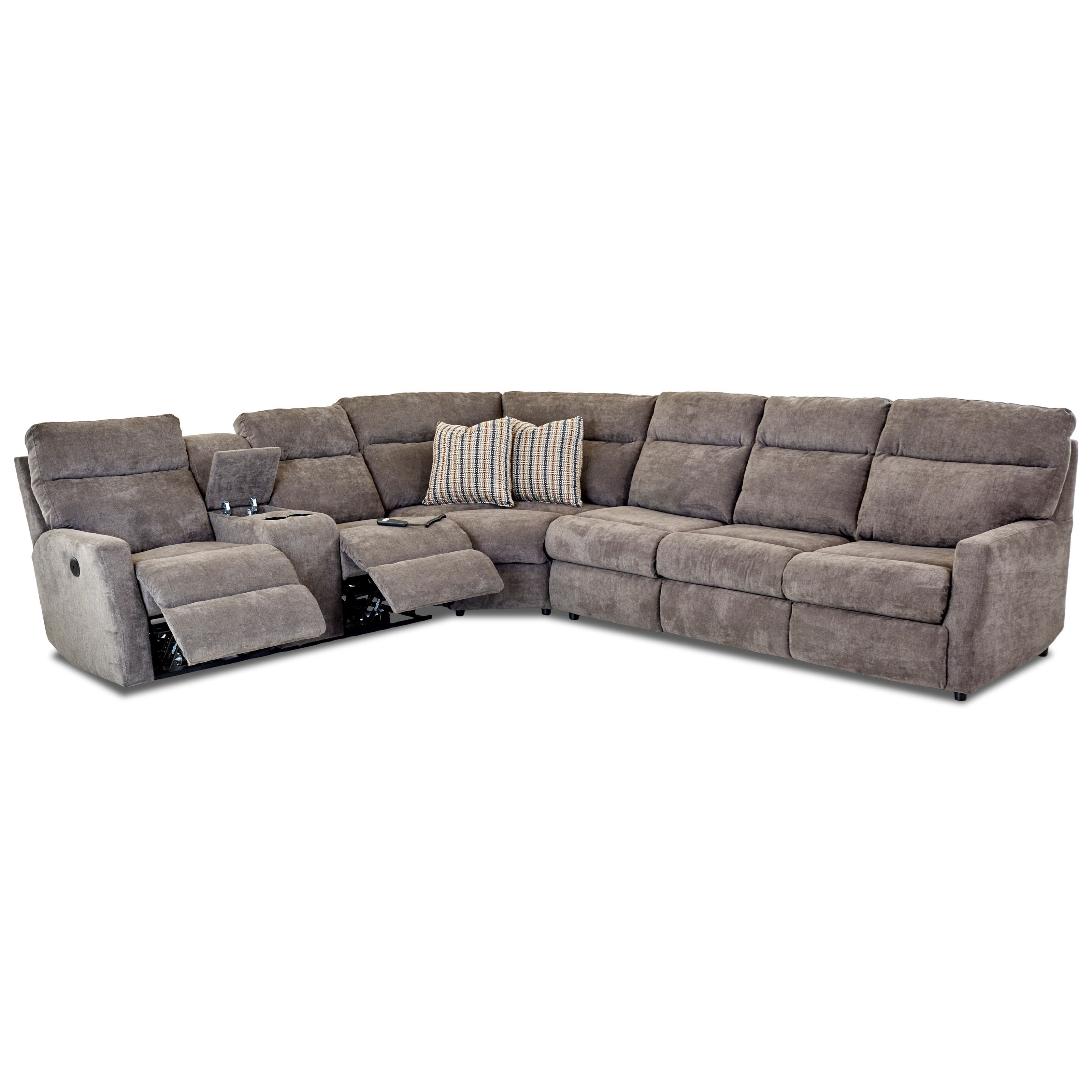 5-Seat Reclining Sectional Sofa with Right Arm Facing Innerspring Sleeper Mattress