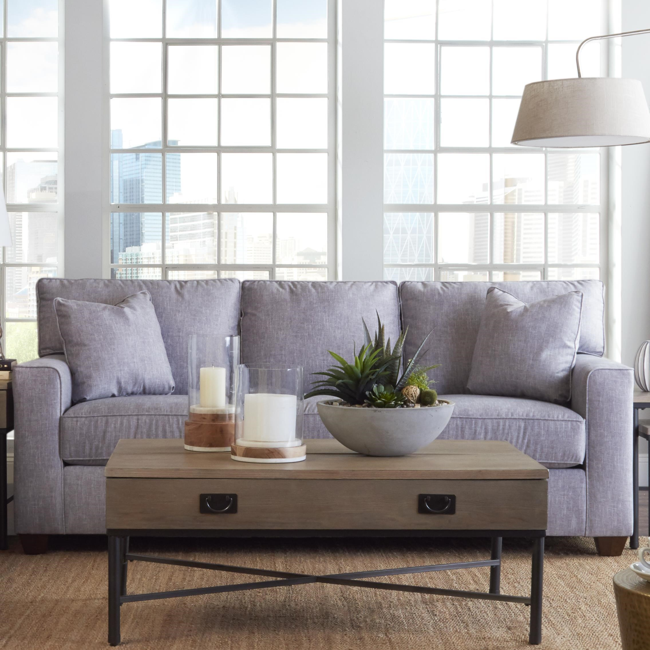 Contemporary 3-Seat Sleeper Sofa with Innerspring Mattress
