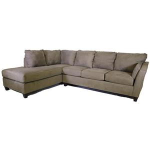 Klaussner OE16 2 pc microfiber sectional