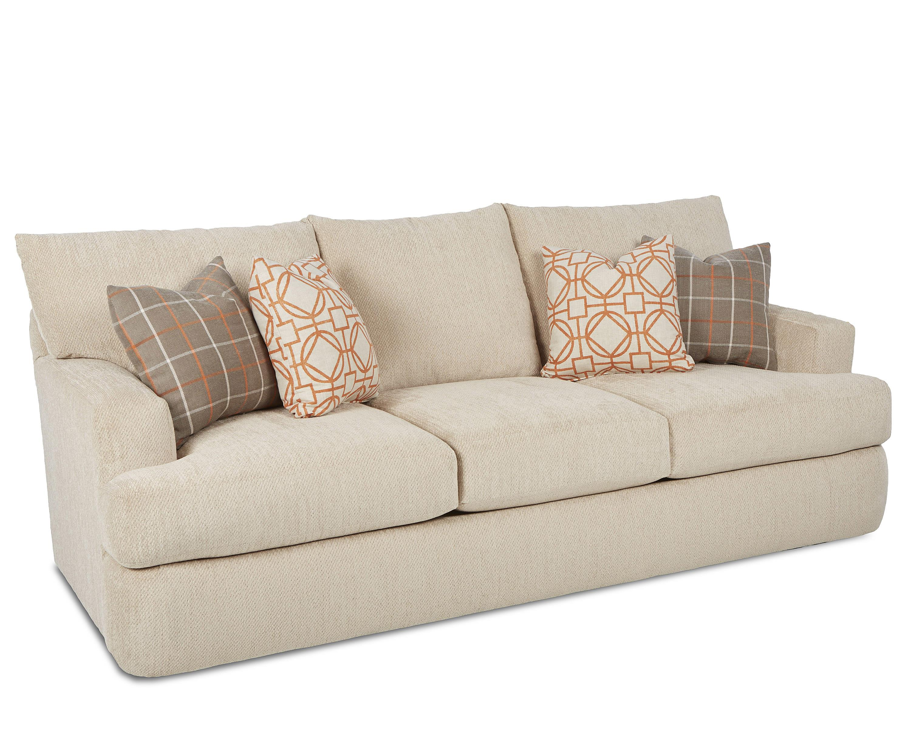 Contemporary Track Arm Sofa By Klaussner Wolf Furniture